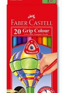 набор цветных карандашей, 20 цв, с точилкой,в картонной коробке, ,Faber-Castell