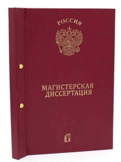Папка Магистерская диссертация бордо, с 2-мя отверстиями
