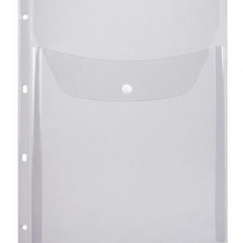 Папка конверт на кнопке 245*310мм 0,4мм с перфорацией