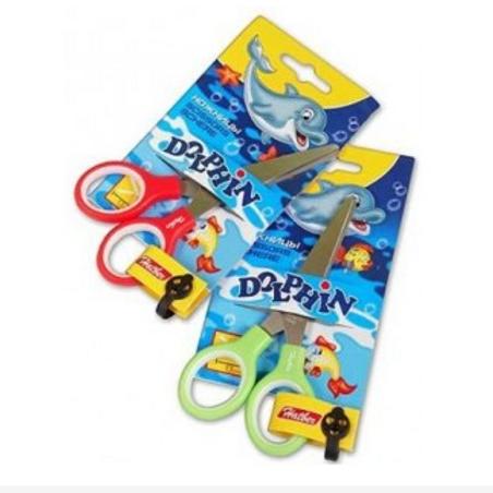 Ножницы детские HATBER 13,5см, с резиновыми  вставками