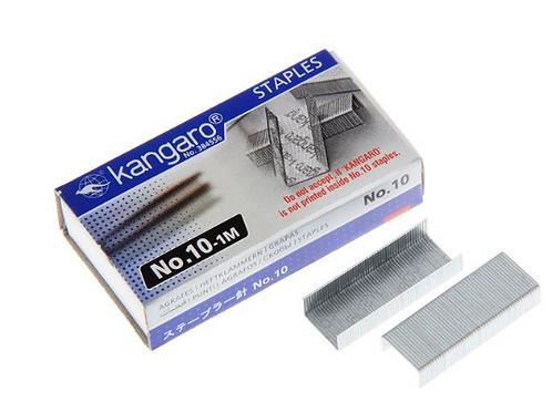 Скобы для степлера №10 Kangaro стальные ,1000шт в картонной коробке