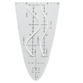 шаблон с косинусоидами, 9 графиками функций, прозрачный