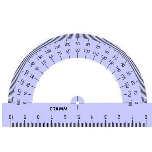Транспортир Стамм 10 см