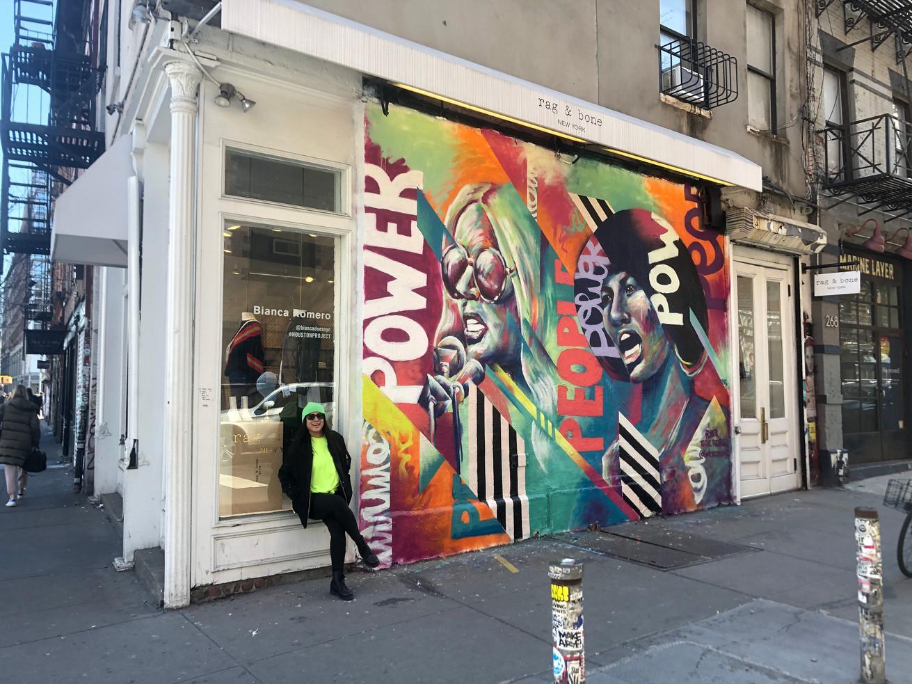 Bianca Romero art Rag & Bone Mural NYC