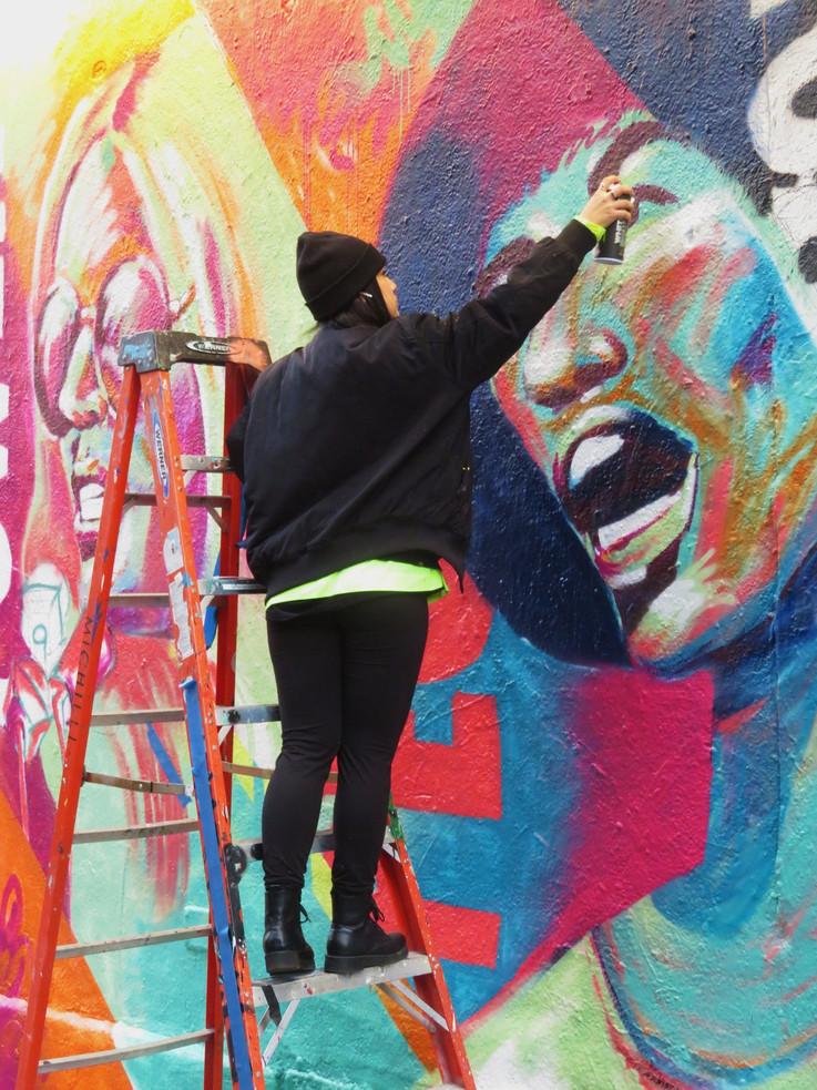 Bianca Romero Rag & Bone Mural NYC