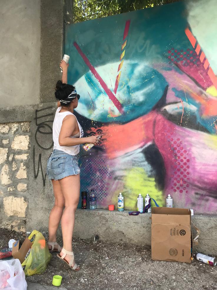Bianca Romero Mural in Haiti