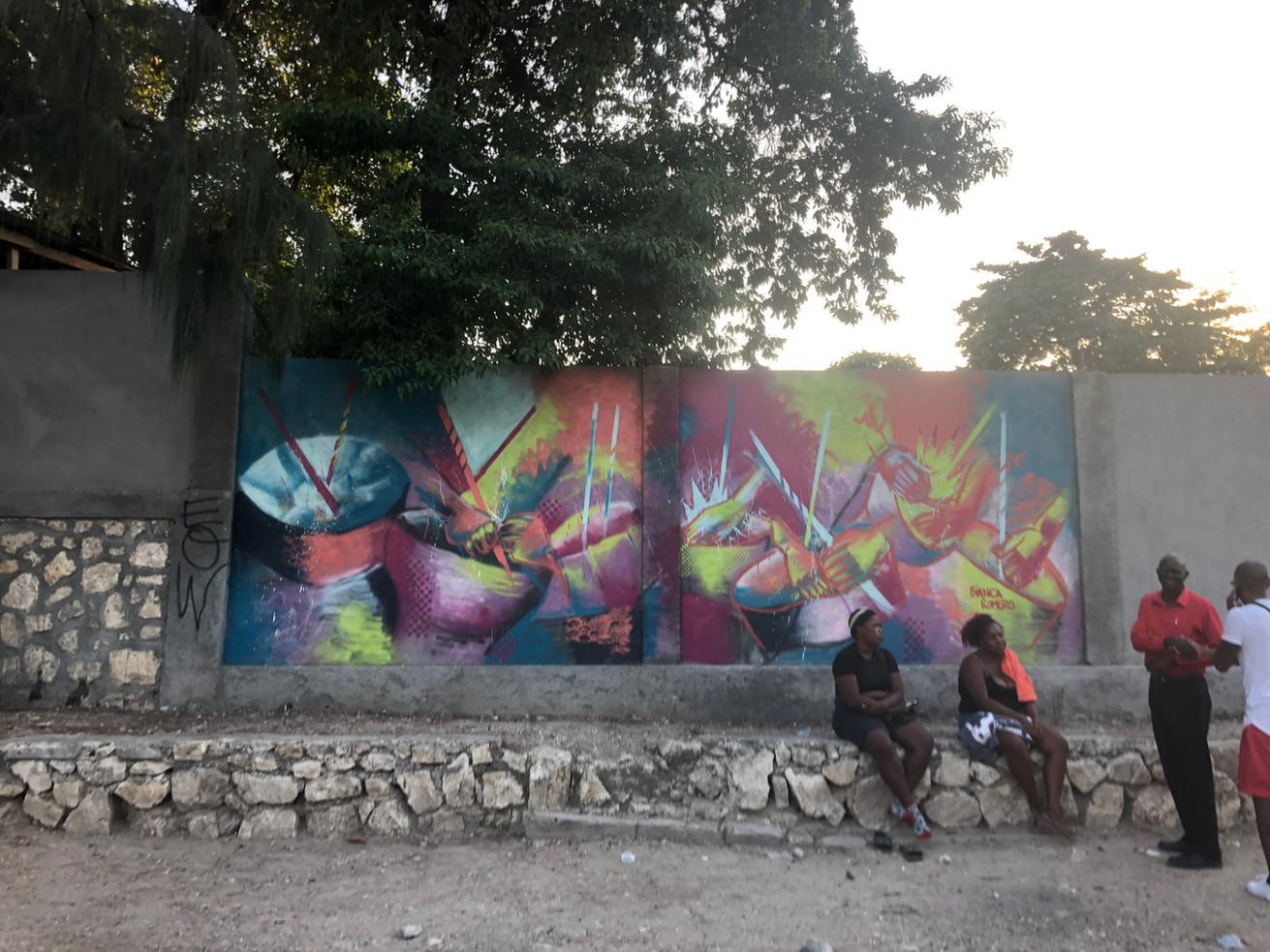 Bianca Mural in Port Au Prince Haiti