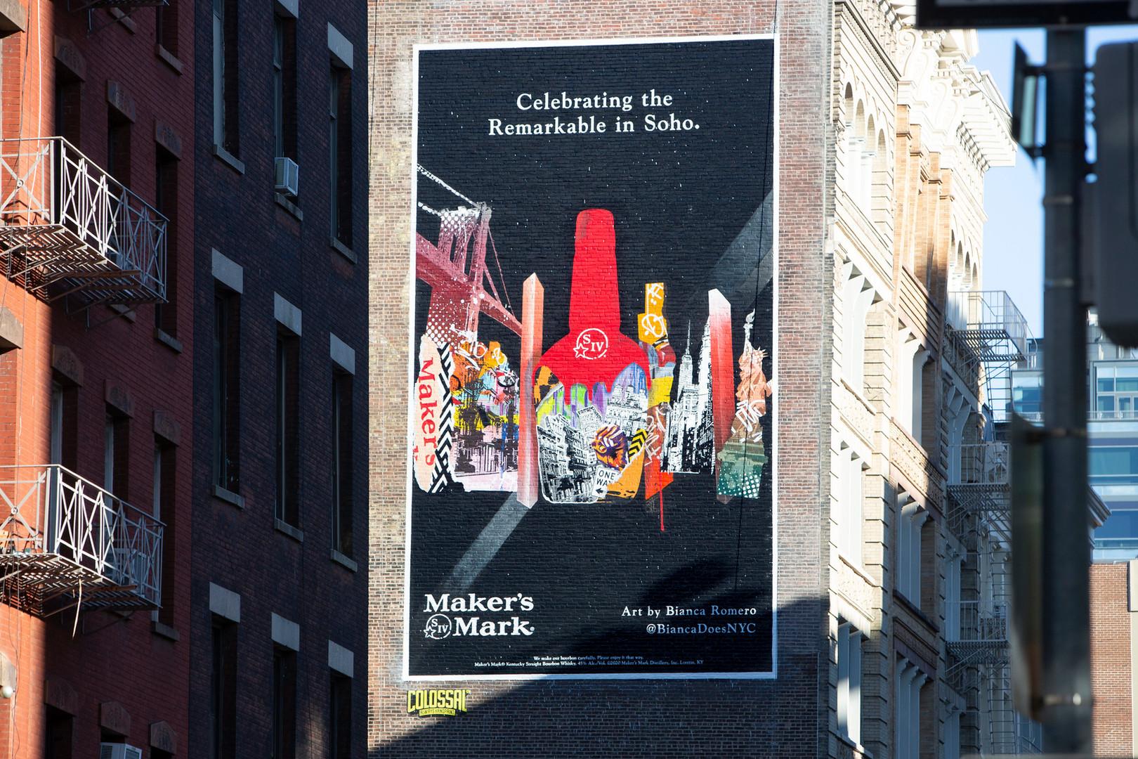 Bianca Romero x Makers Mark brand collaboration