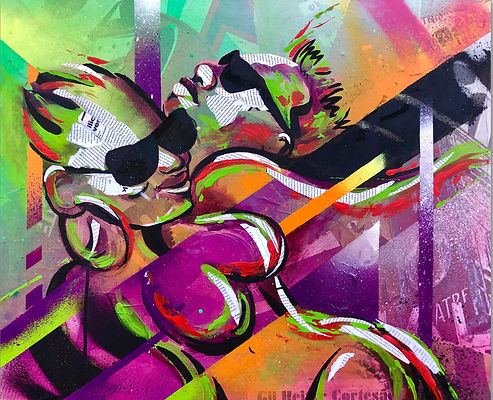 #biancaromeroart #biancaromeroartist #contemporaryart #mixedmediaart #collageart #streetartist #streetartistnyc #artforsale #custompainting #artcollectors
