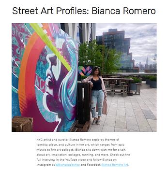 bianca romero interview runstreet artist profile