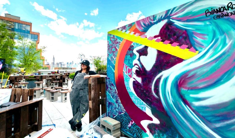 Bianca Romero mural at William Vale
