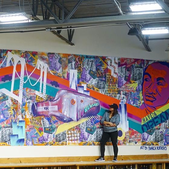 bianca romero art mural basil haydens