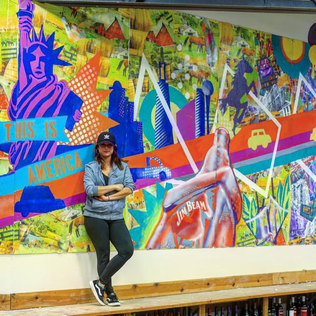 Bianca Romero Mural Jim Beam