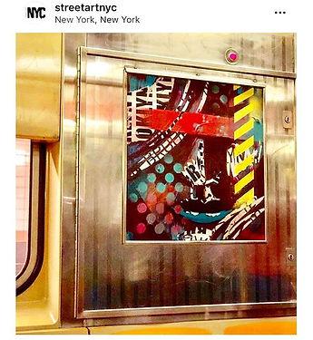 Bianca Romero artist Street Art NYC Subway Art
