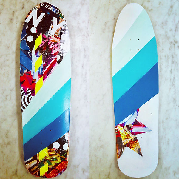 bianca romero art custom skateboard