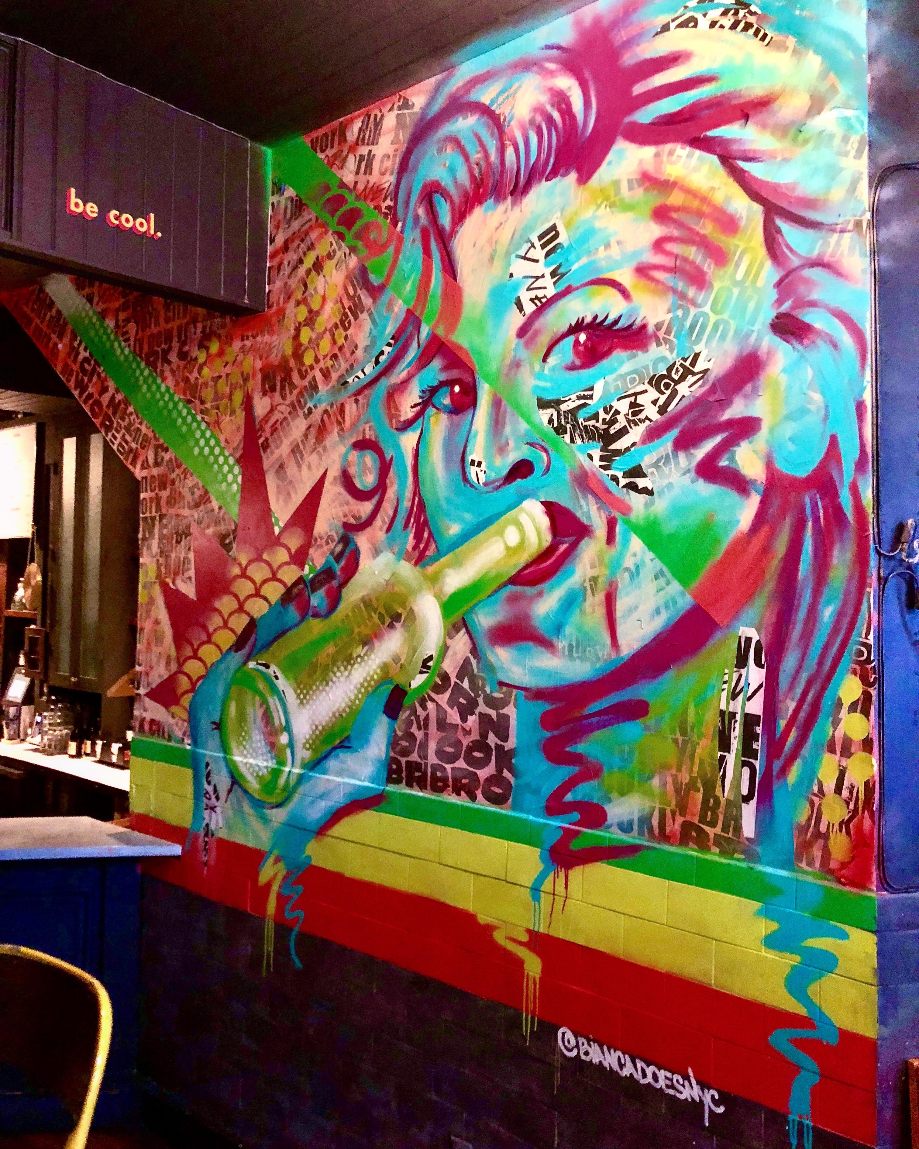 Bianca Romero restaurant mural