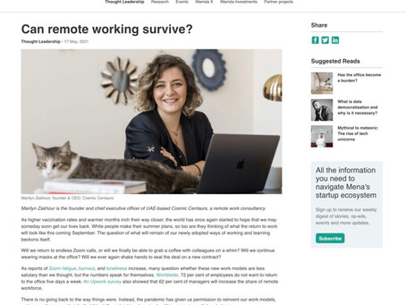 Wamda Op-Ed: Can remote working survive?