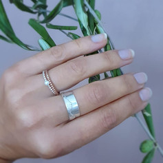 Silberne Ringe