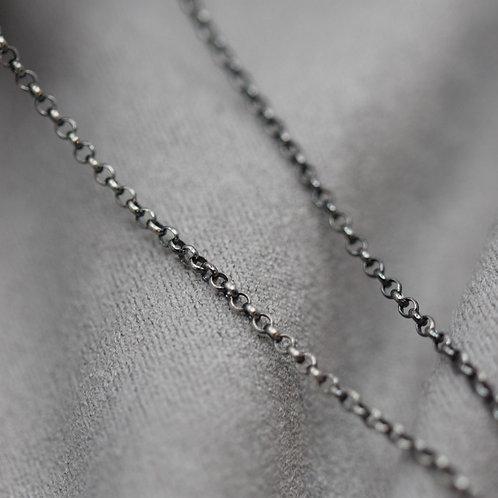 Erbskette Silber 925 patiniert