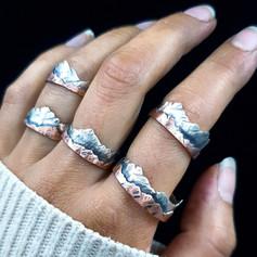 "Silberner Ring ""Explore"""