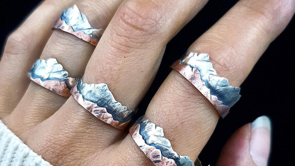 """Ring """"Explore"""", Silber 925 & Kupfer"""