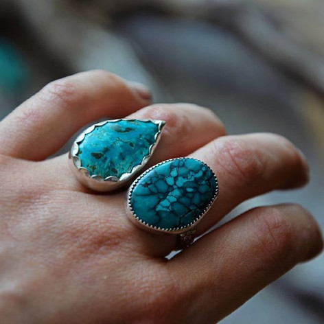 Ringe mit Türkis & Azurit