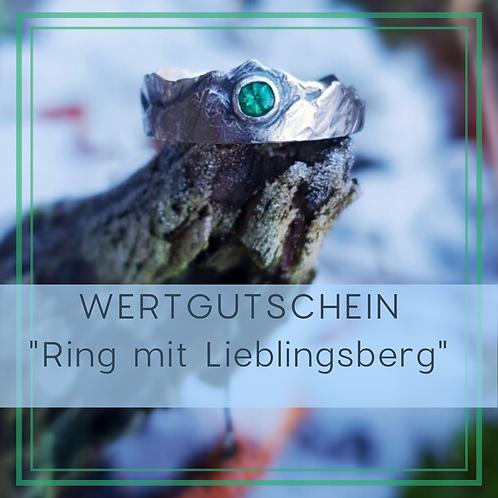 Gutschein für einen Ring mit Lieblingsberg