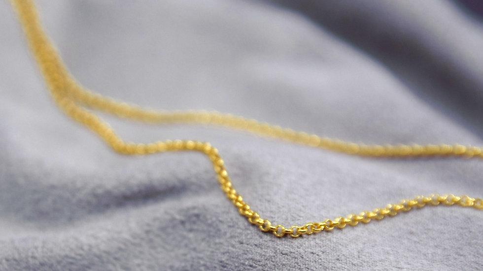 Erbskette Silber 925, vergoldet