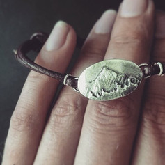 "Silbernes Armband ""Bergwald"""