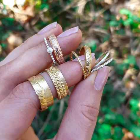 Ring mit Süßwasser-Kulturperle