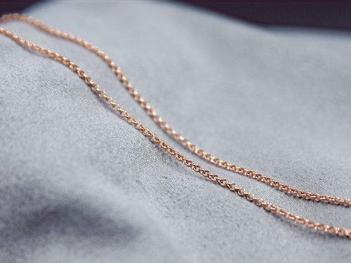Erbskette Silber 925, rosévergoldet