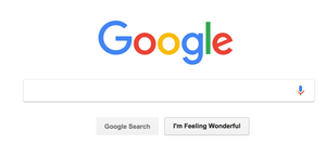 Google Search Homepage Screen - Curiosity Filter