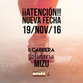 II Carrera solidaria Mizu a favor de Fundación Nipace el 19 de noviembre
