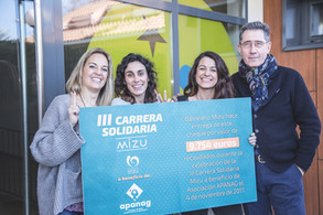 La III Carrera solidaria Mizu recauda casi 10.000 euros a favor de Apanag