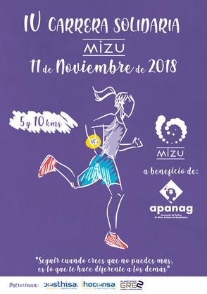 IV Carrera solidaria Mizu a favor de Apanag el 11 de noviembre. ¡Inscríbete ya!