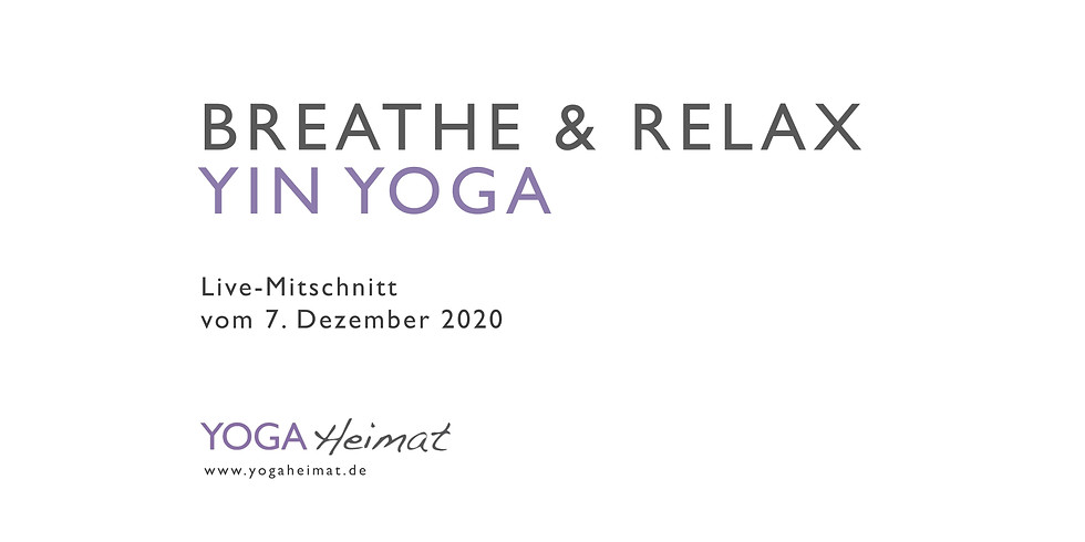 Breathe & Relax Yin