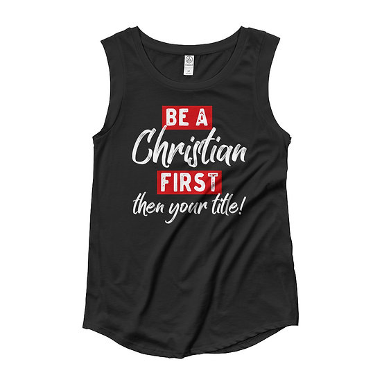 Ladies' Cap Sleeve T-Shirt (Christian First)