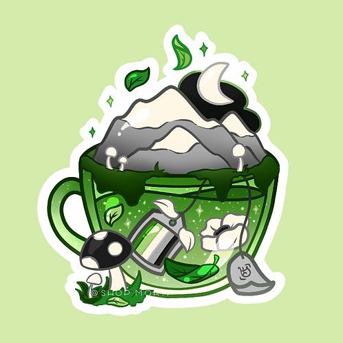 Aro Flag Teacup Sticker (@heysoleilart)