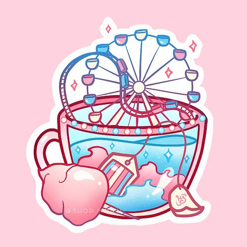 Trans Flag Teacup Sticker (@heysoleilart)