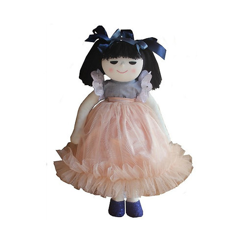MEL AND STEFF SOFT DOLL BLOSSOM  HANDMADE 34CMS