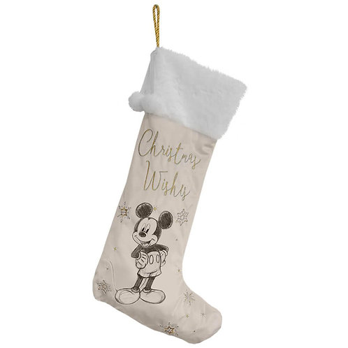 DISNEY MICKEY MOUSE COLLECTIBLE CHRISTMAS VELVET STOCKING 62CM WIDDOP & CO