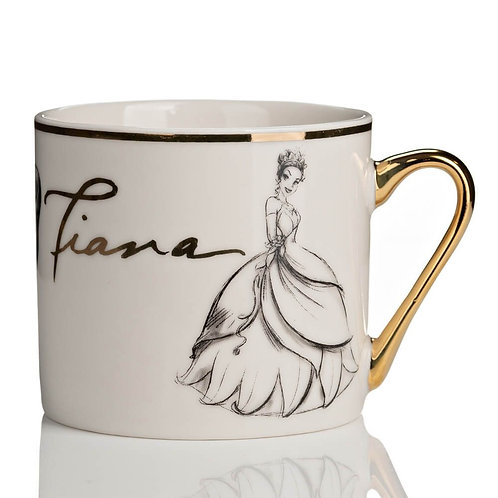 DISNEY COLLECTABLE TIANA FROM THE PRINCESS AND THE FROG GOLD RIM MUG WIDDOP & CO