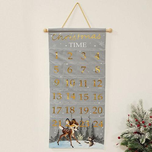 BAMBI CHRISTMAS FABRIC ADVENT CALENDAR COUNTDOWN TO CHRISTMAS WIDDOP & CO