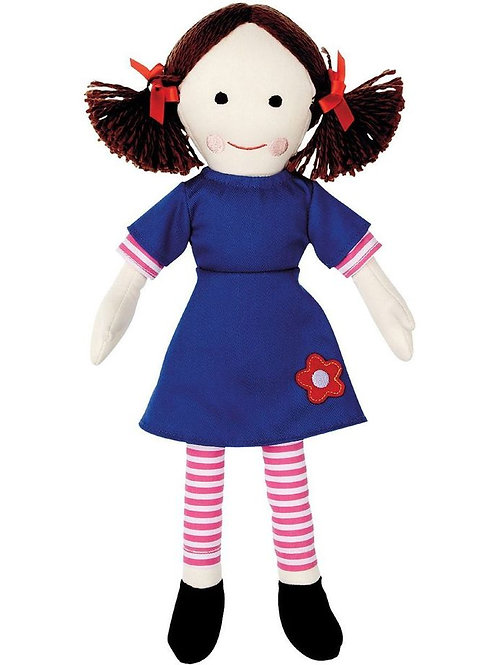 JEMIMA PLAY SCHOOL CLASSIC PLUSH RAG DOLL TOY 32CM ABC KIDS