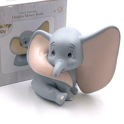 DISNEY MAGICAL BEGINNINGS 3D DUMBO CERAMIC MONEY BANK MONEY BOX