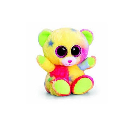 KEEL TOYS ANIMOTSU  BEANIE 15CM RAINBOW BEAR CALLED GLITTER