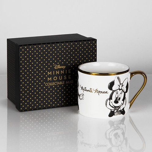 DISNEY COLLECTABLE MINNIE MOUSE GOLD RIM MUG FROM WIDDOP & CO