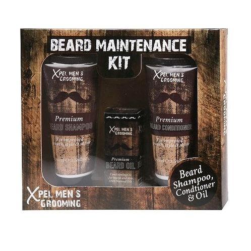 XPEL MENS BEARD GROOMING 3PIECE SET BEARD SHAMPOO, BEARD CONDITIONER, BEARD OIL