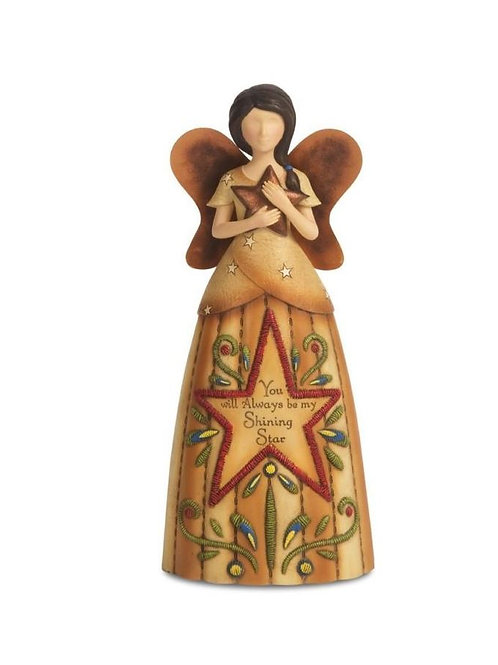 """COUNTRY SOUL 29047 COUNT MY BLESSINGS ANGEL FIGURINE 23CM /9 """""""