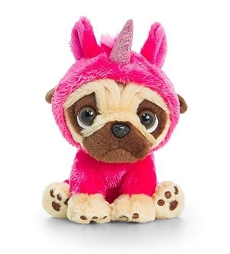 LARGE 20cm PUGSLEY SOFT TOY CUTE PUG